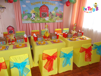 Farm themed party cape town the party b kids party set ups and decor hire cape town - Images of kiddies decorated room ...