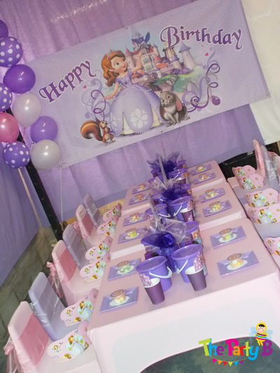 Sofia the first themed party cape town - The Party B ...