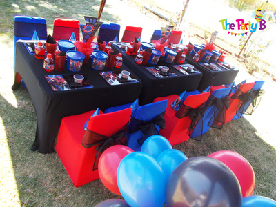 Spiderman themed party cape town the party b kids party set ups and decor - Decor shooting photo ...