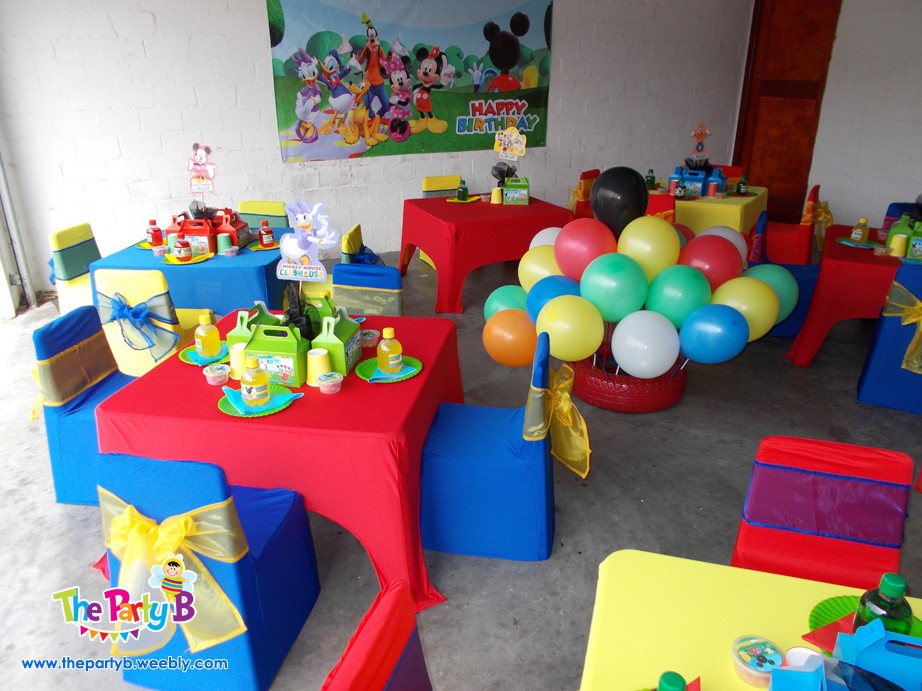 Mickey mouse clubhouse themed party cape town the party for Mickey mouse home decorations