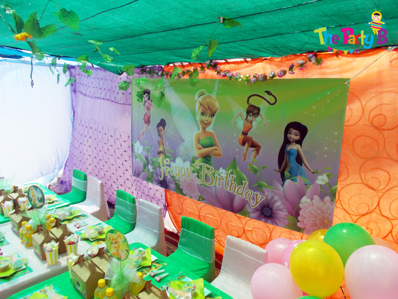 Tinkerbell themed party cape town The Party B Kids party setups